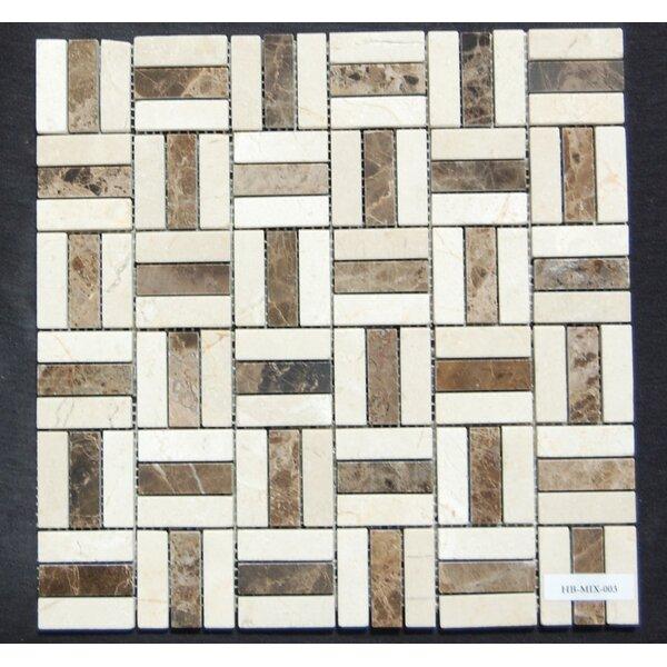 0.62 x 2 Natural Stone Mosaic Tile