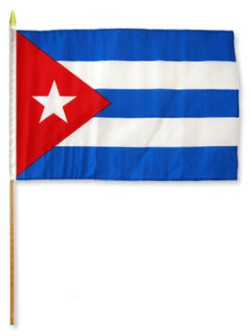 Cuba Traditional Flag and Flagpole Set (Set of 12) by Flags Importer