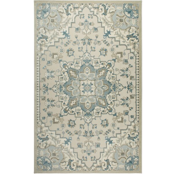Ivory/Blue Area Rug by Shabby Chic