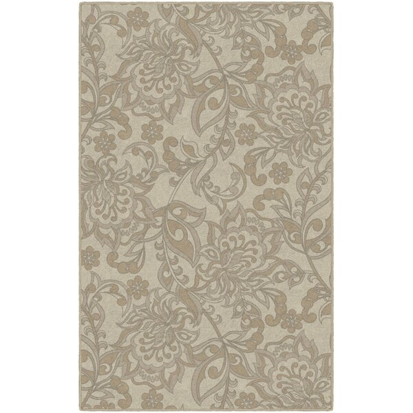 Jaquelin Traditional Jacobean Floral Yellow Area Rug by Winston Porter
