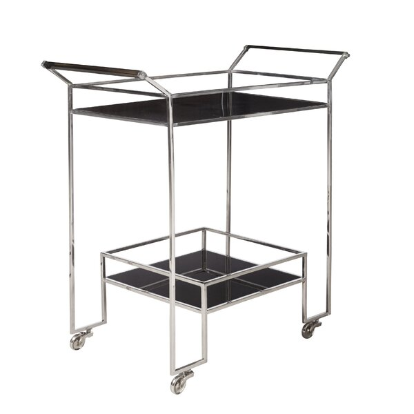 Charlaine Steel Bar Cart By Orren Ellis Purchase