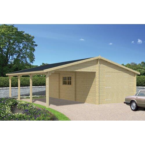 6 m x 3 m Garage Aspenson Garten Living Dach: Rechteckig Schwarz| Fundament: Ohne Fundament | Baumarkt > Garagen und Carports > Garagen | Garten Living