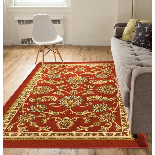 Addieville Tabriz Red Indoor/Outdoor Area Rug by Charlton Home