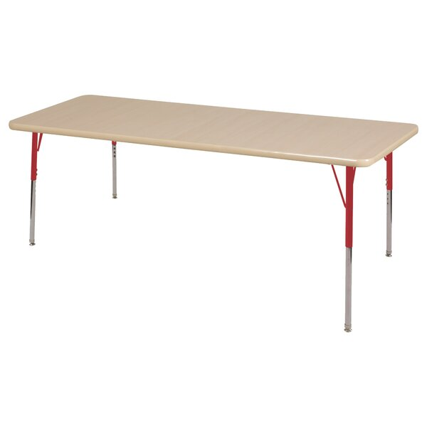 Maple Top Thermo-Fused Adjustable 72 x 36 Rectangular Activity Table by ECR4kids