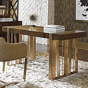 Order Cross Effect Writing Desk and Chair Set by Sligh
