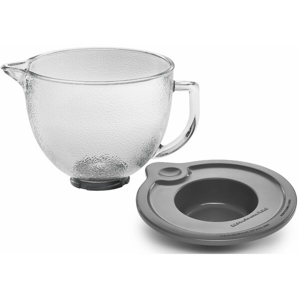 5 Qt. Hammered Glass Bowl for Tilt-Head Stand Mixers by KitchenAid