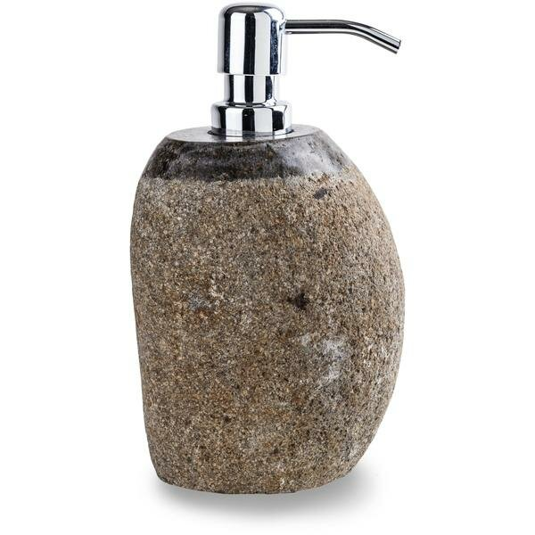 Acker Round River Stone Soap & Lotion Dispenser by Bloomsbury Market
