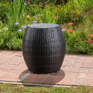 Great Price Balbuena Outdoor Wicker End Table by Wrought Studio