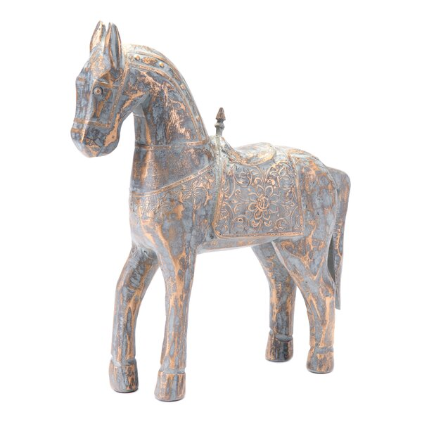 Halfeti Small Solar Horse Figurine by Bungalow Rose