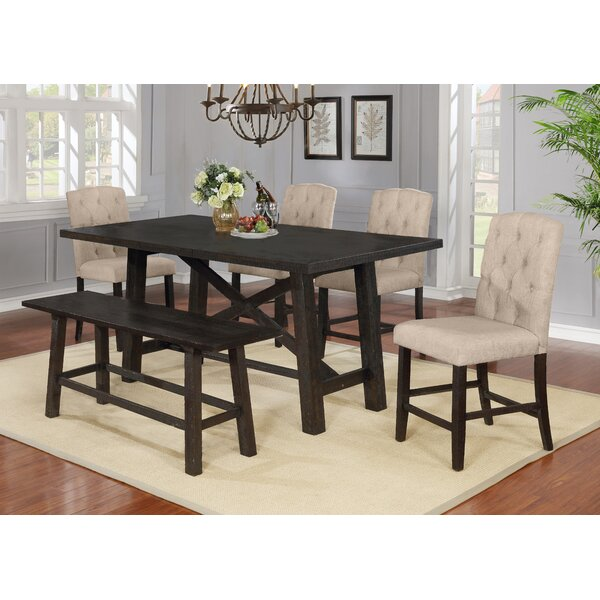 Greenspan Counter Height Solid Wood Dining Table by Gracie Oaks