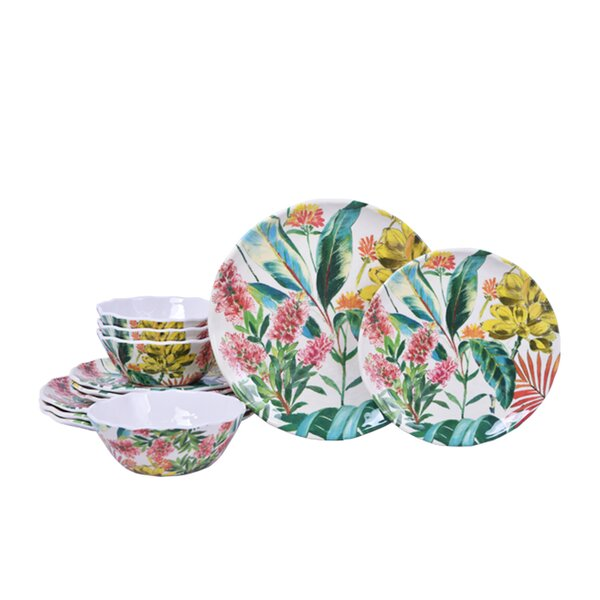 Tamea Melamine 12 Piece Dinnerware Set, Service for 4 by 222 Fifth