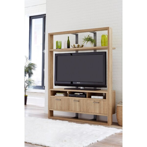 Burr Wooden Entertainment Center by Brayden Studio