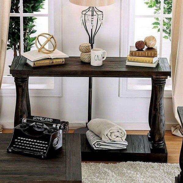 One Allium Way Black Console Tables