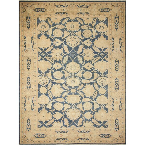One-of-a-Kind Romona Hand-Knotted Oriental Blue Indoor Area Rug by Isabelline