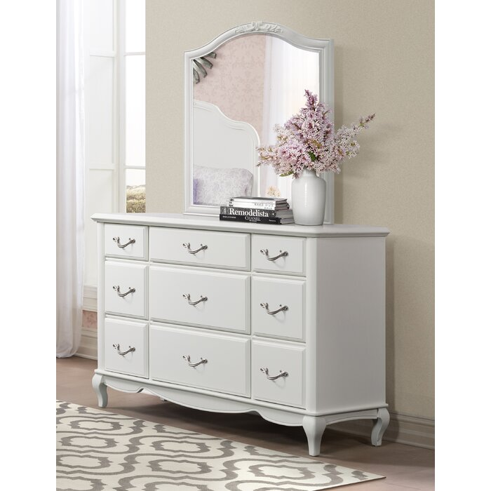 Gholston 9 Drawer Dresser With Mirror