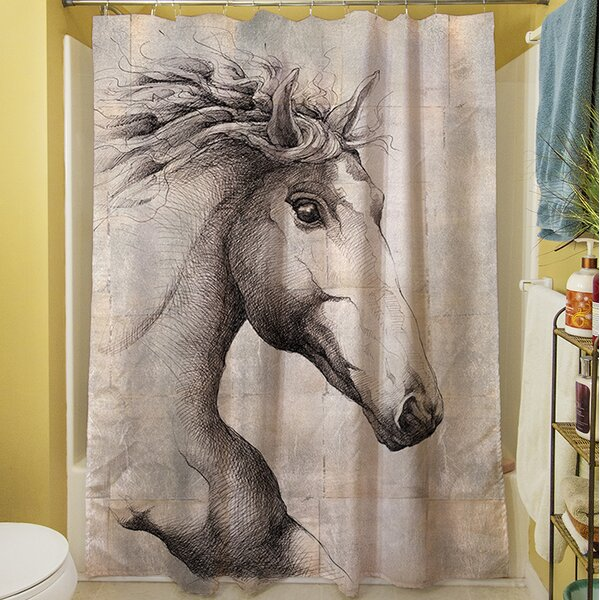 Run with the Wind Shower Curtain by Manual Woodworkers & Weavers