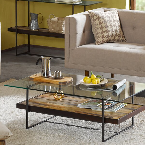 Macrae Coffee Table with Magazine Rack by Union Rustic