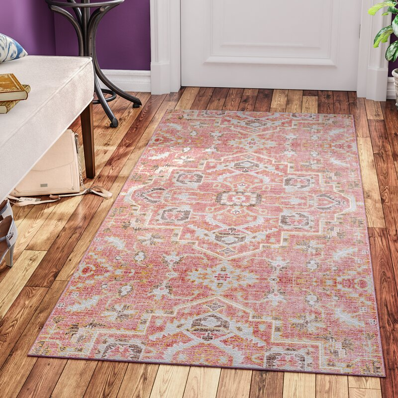 Mistana Fields Pink Area Rug & Reviews | Wayfair