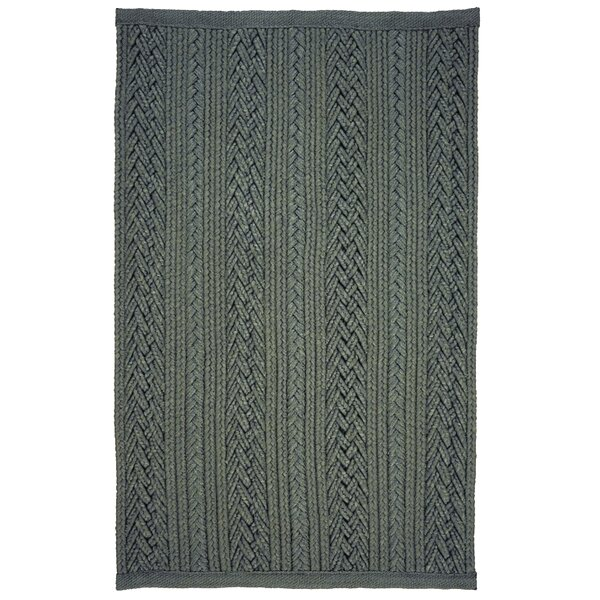 Laguna Braided Silver Indoor/Outdoor Area Rug by Homespice Decor
