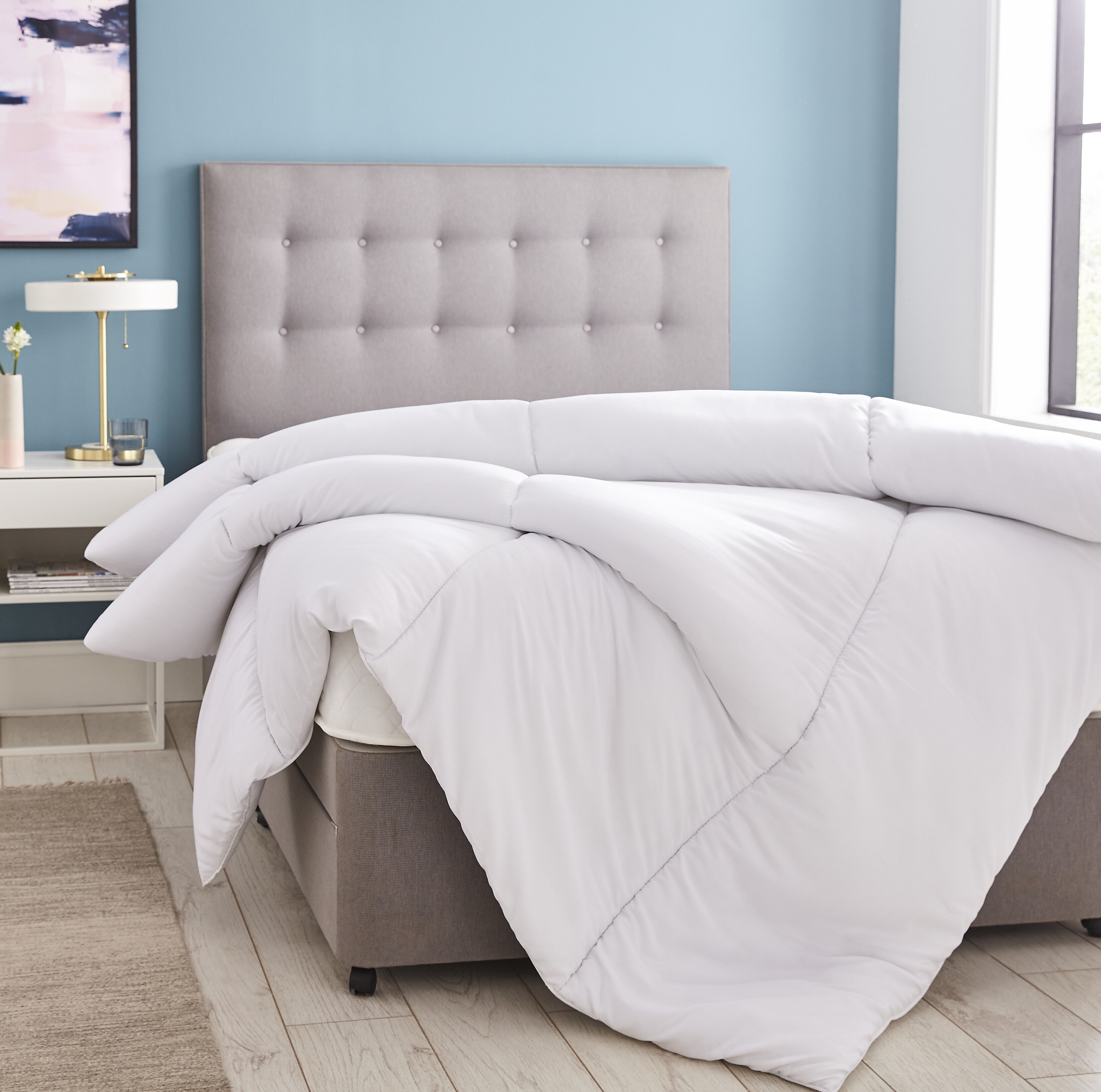 DOUBLE /& KING HIGH QUALITY HOLLOWFIBRE DUVET ONLY OR WITH 2 PILLOWS SINGLE