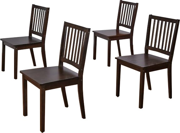 Jeane Solid Wood Dining Chair (Set of 4) by Red Barrel Studio
