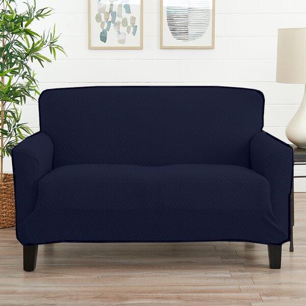 Harlowe Box Cushion Loveseat Slipcover By Ebern Designs