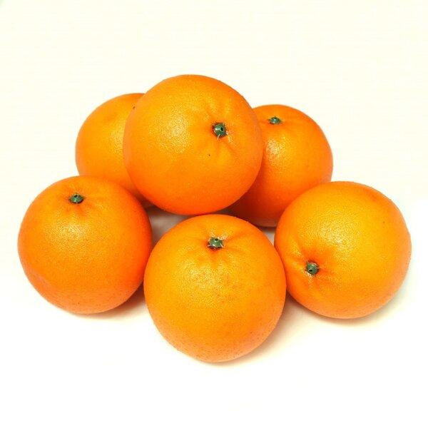 Decorative Realistic Artificial Orange Fruit (Set of 6) by ALEKO