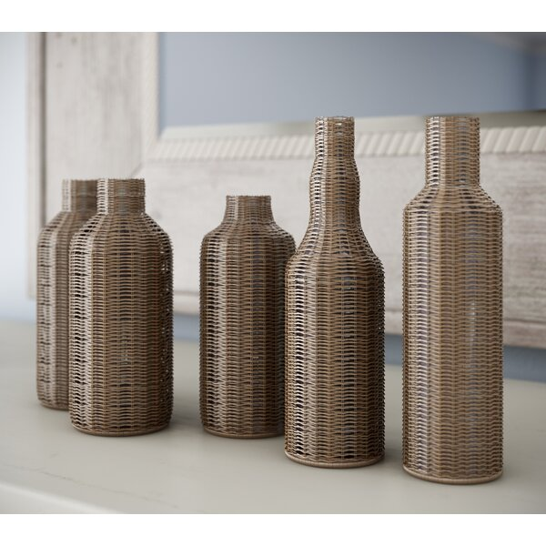 5 Piece Decorative Bottle Set by Bay Isle Home