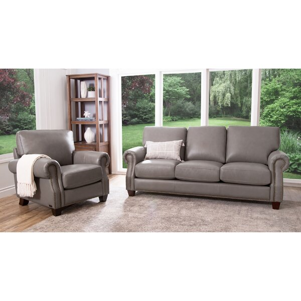 Cairnbrook 2 Piece Leather Living Room Set