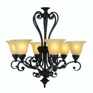 Florence 6-Light Shaded Chandelier By Yosemite Home Decor