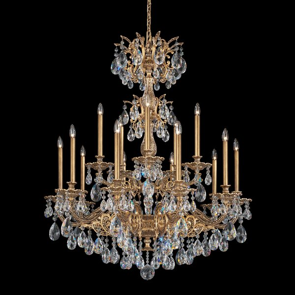Milano 15-Light Candle Style Tiered Chandelier By Schonbek