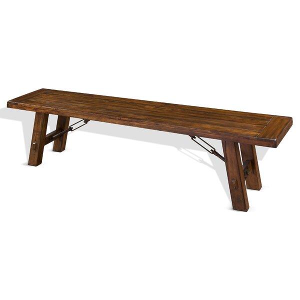 Hardin Solid Wood Bench by Loon Peak Loon Peak