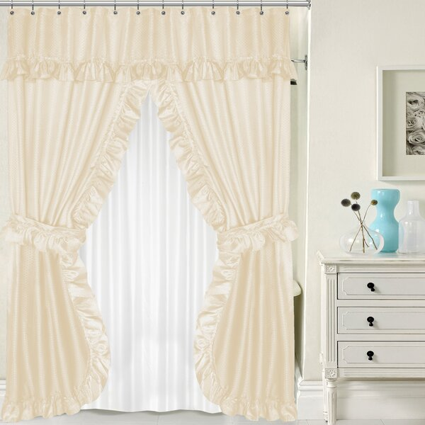 Double Swag Shower Curtain Set by Sweet Home Collection