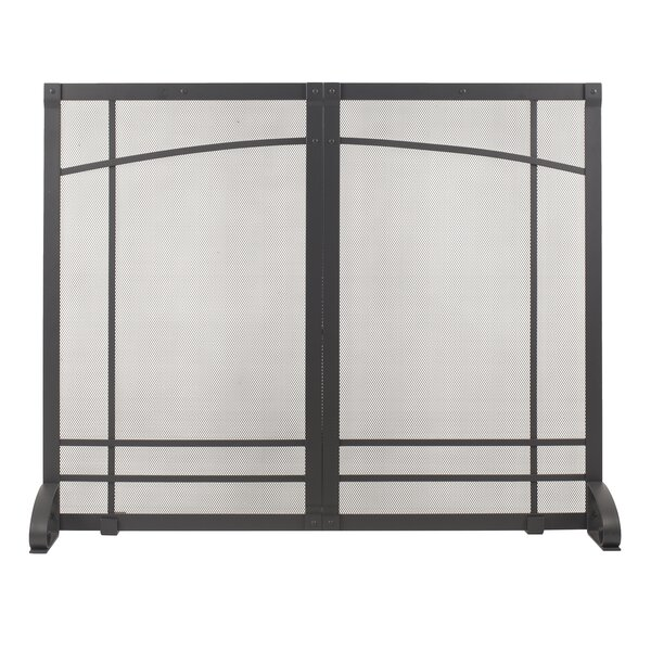 Amherst Single Panel Steel Fireplace Screen By Pleasant Hearth