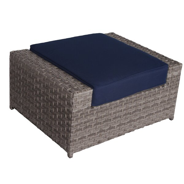 Kordell Outdoor Ottoman with Cushion by Sol 72 Outdoor