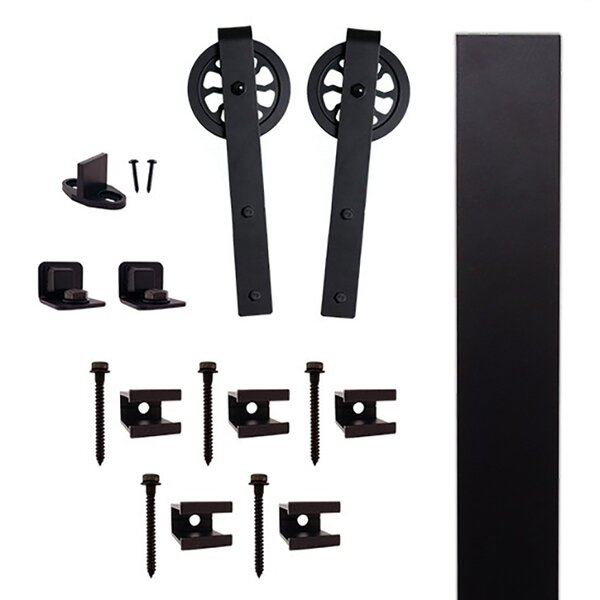Hook Strap Barn Door Hardware Kit by Quiet Glide