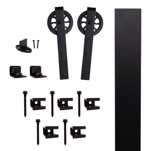 Hook Strap Barn Door Hardware Kit by Quiet Glide
