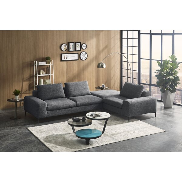 Creekmore Modern Modular Sectional with Ottoman by Brayden Studio