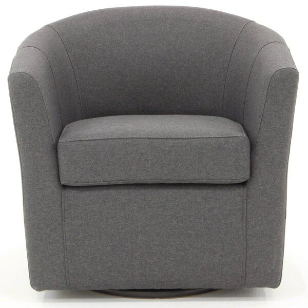 Molinari Swivel Barrel Chair by Ebern Designs Ebern Designs