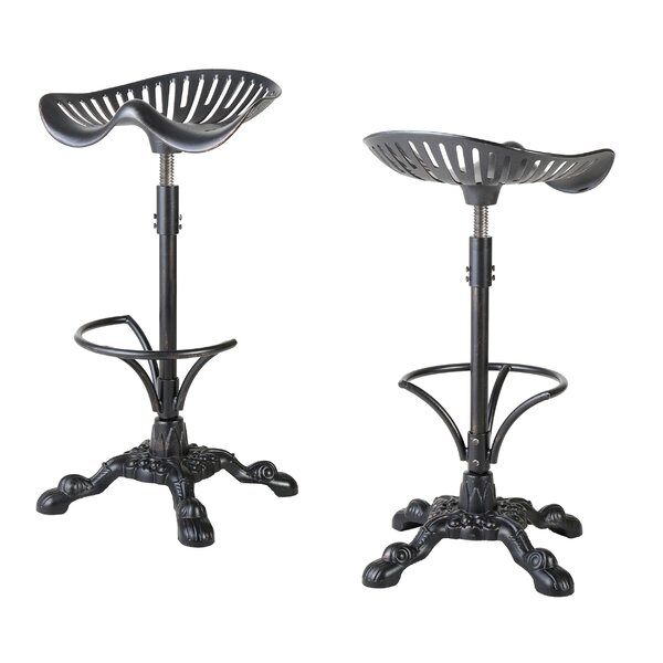 Dordogne Adjustable Height Swivel Bar Stool (Set of 2) by August Grove