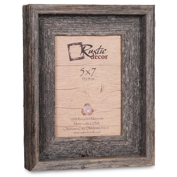 Waldrop Barn Wood Reclaimed Wood Signature Picture Frame by Loon Peak