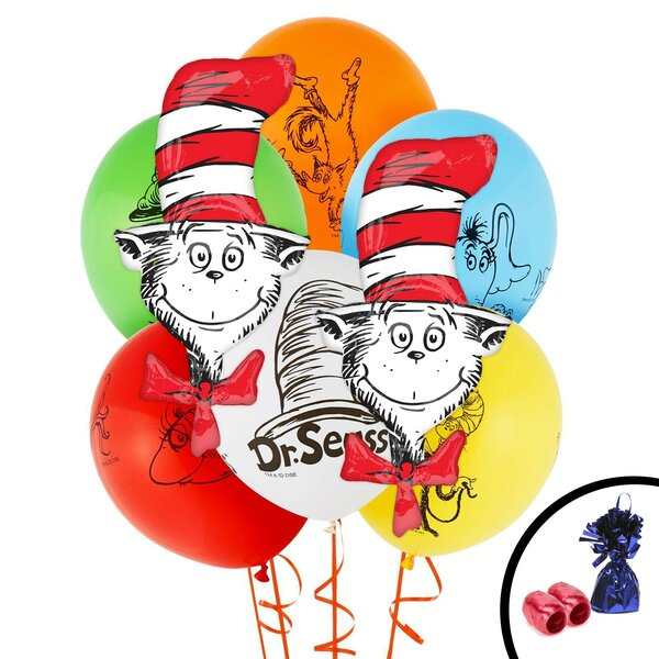 12 Piece Dr Seuss Classics Jumbo Balloon Bouquet Set [NA]