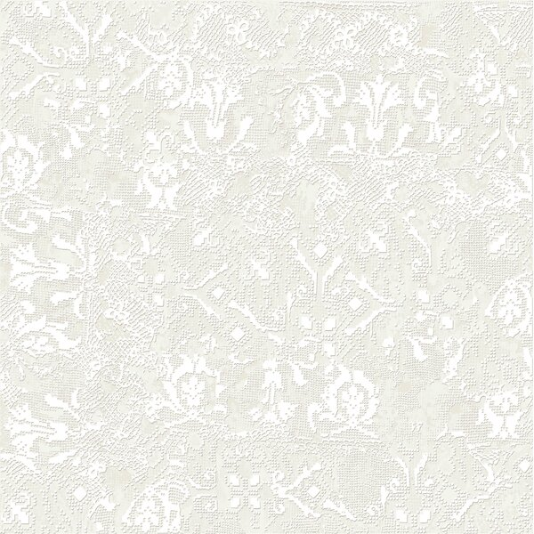 Tapis Blanc 23.5 x 23.5 Porcelain Fabric Look Tile in White by The Bella Collection