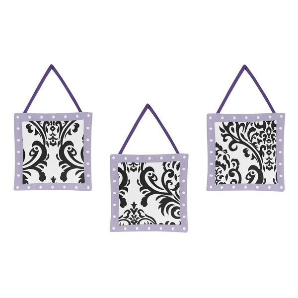 Sloane 3 Piece Hanging Art Set by Sweet Jojo Designs