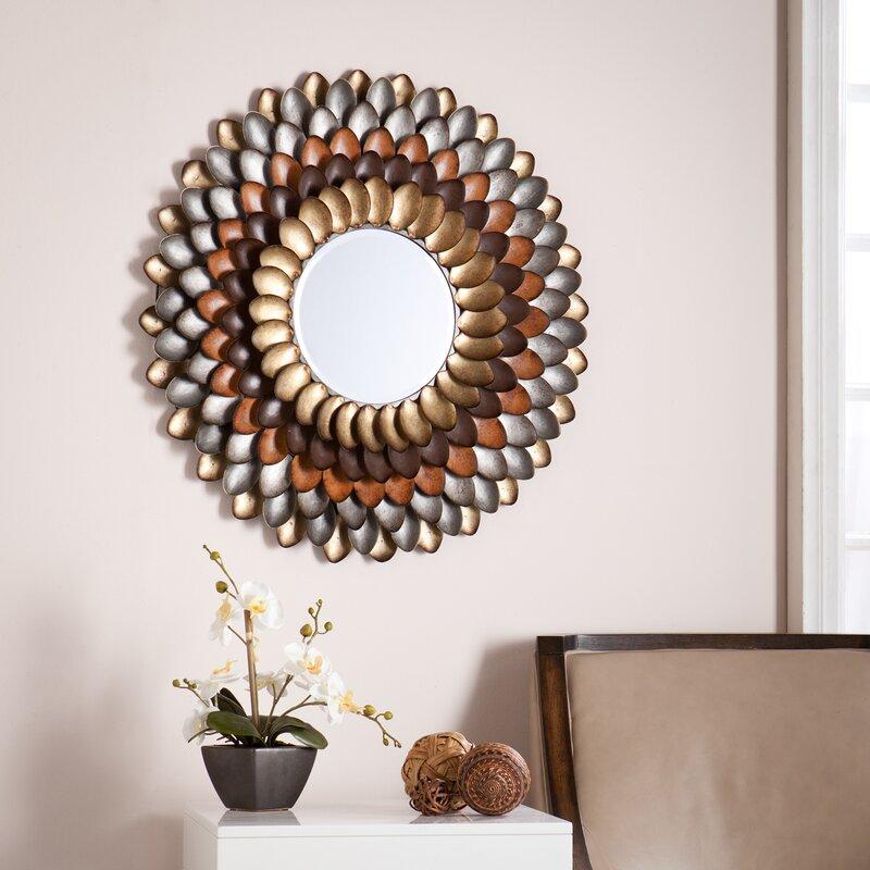 Red Barrel Studio Decorative Round Wall Mirror & Reviews | Wayfair