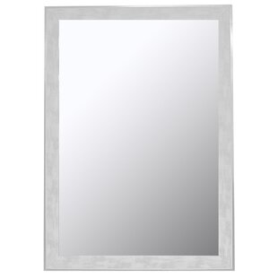 Rosecliff Heights Scratched Trim Framed Accent Wall Mirror