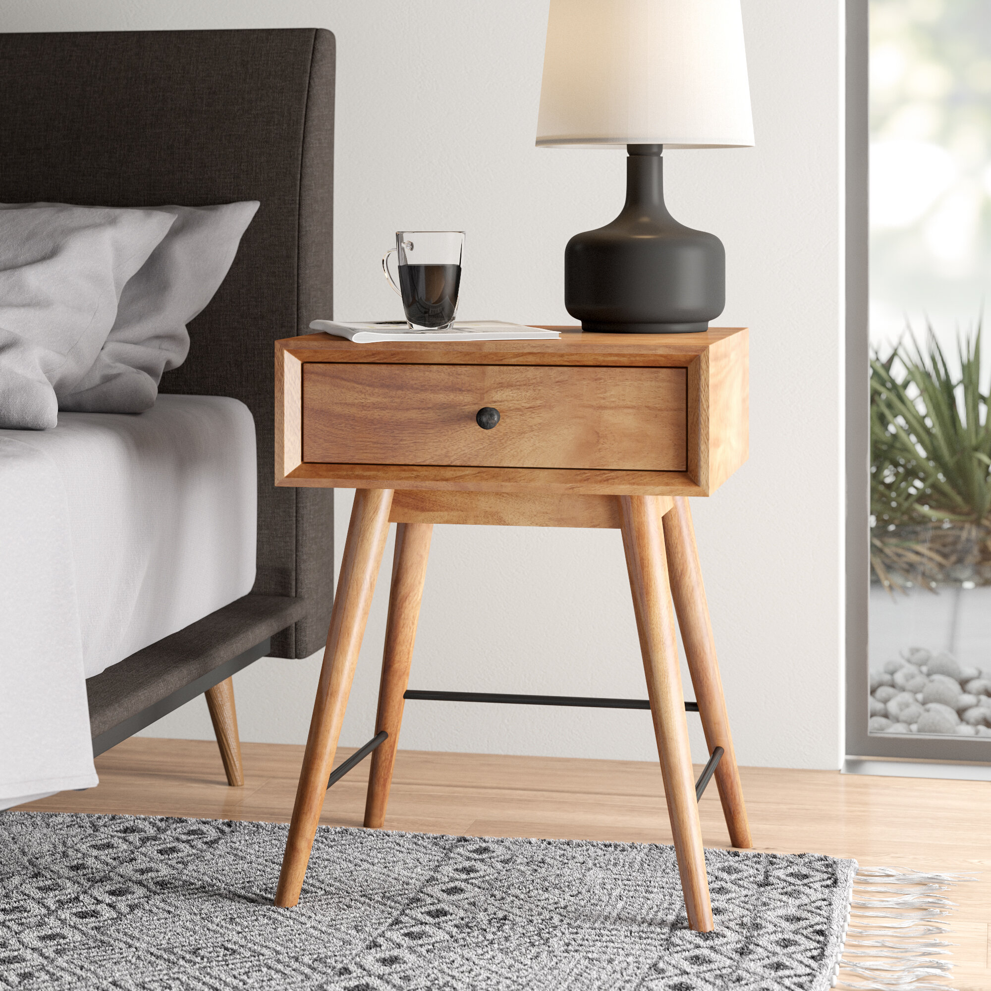 Mayer End Table With Storage Reviews Allmodern