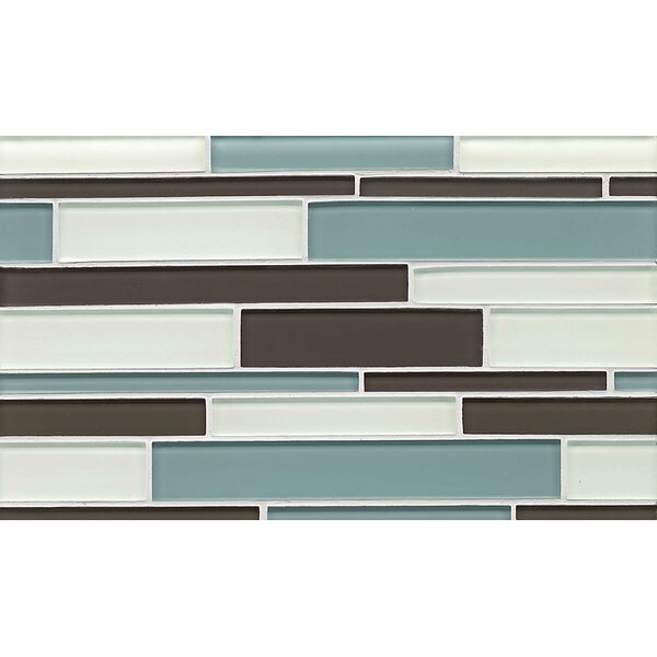 Hamptons Random Sized Glass Mosaic Tile in Cove by Bedrosians