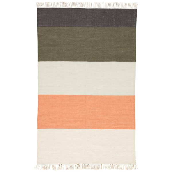 Tahoe Flat Woven Coral/Green Indoor/Outdoor Area Rug by Wrought Studio