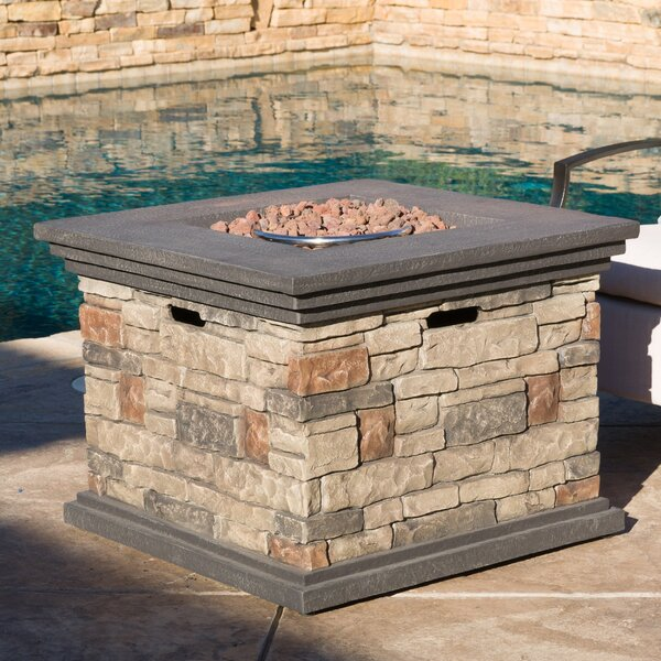 Herefordshire Stone Propane Fire Pit Table by Freeport Park